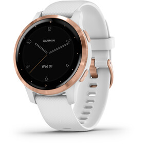 Garmin Vivoactive 4S Smartwatch, white/rose gold